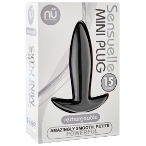 Sensuelle Vibrating Mini Anal Plug - Black