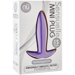 Sensuelle Vibrating Mini Anal Plug - Purple