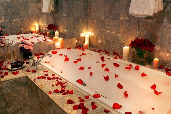 valentine's day bath
